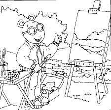 arthur painting coloring pages fooooooood pinterest