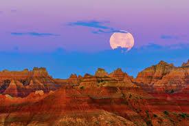 South Dakota mountains images United states south dakota badlands national park morning moon jpg