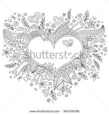 royalty free coloring page flower heart st valentine u2026 381260983
