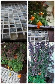 gorgeous tiled wooden planter diy for garden decor lowescreator