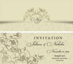 wedding invitations vector free wedding invitation designs free vector
