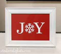 Diy Home Decor Signs by Christmas Joy Sign
