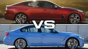 bmw 740 vs lexus ls 460 2018 kia stinger gt vs 2016 bmw m3 youtube