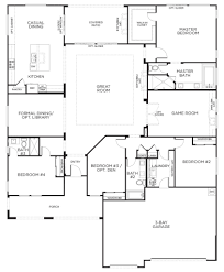 architectures single storey house floor plan design one level