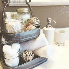 master bathroom styling decorating counter vanity organization