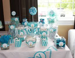 blue baby shower blue and white baby shower ideas babywiseguides