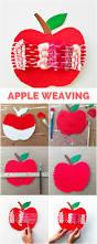 cardboard apple weaving craft fun fall art apple project for kids