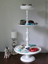 Diy Tiered Stand From Thrift Store Pieces In The Garage