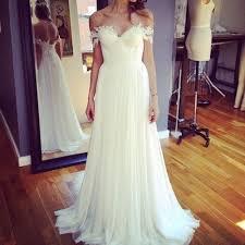 the shoulder bridesmaid dresses shoulder lace appliqued chiffon bohemian wedding dresses