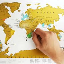 Large World Map Poster by Large Scratch Map Edition Luckies World Poster Layer Off Where You