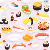 sushi for beginners book japanese sushi 3d sponge sticker book set by kamio food stickers