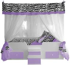 Princess Canopy Bed Zebra Canopy Bed With Bedding Lavender Princess Canopy Beds