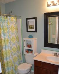 Half Bathroom Remodel Ideas Kids Bathroom Designs In White And Blue Theme With Brown Floor