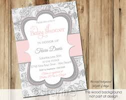 pink and gray baby shower baby shower invitations hot pink and grey baby shower invitations