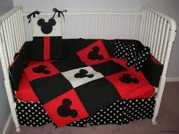 Mickey Mouse Crib Bedding Sets Adorable New Mickey Mouse Crib Bedding Set W Polka Dot Fabrics