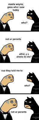Alfred Meme - not cool alfred the meta picture