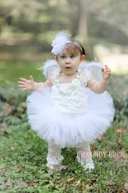 Newborn Baby Costumes Halloween Angel Halo Halloween Costume Tutu Cute Angel Wrenandribbon