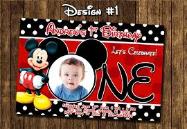 mickey mouse 1st birthday invitations u2013 frenchkitten net