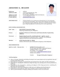 Best Resume Format For Teachers by Formal Resume Template