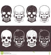 cartoon skulls set with danger stock images image 36040104