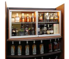 locking wine display cabinet locking 2 tier display case for valuable wine spirits modern