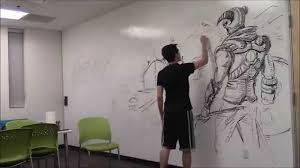 amazing huge skyrim drawing using only an expo marker how to