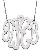3 initial monogram necklace sterling silver amazing deal on large sideways oval monogram necklace in sterling