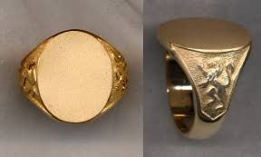 signet ring men 14k gold plain men s signet rings