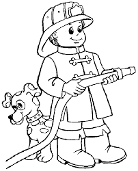 fire fighter coloring pages funycoloring