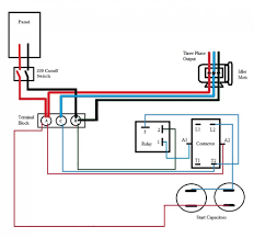 single phase motor connections diagrams for generator wiring