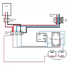 single phase capacitor start run motor wiring diagram gooddy org