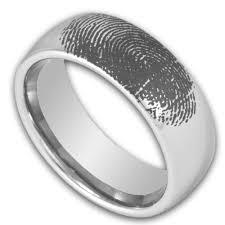 custom metal rings images 8mm domed tungsten ring w custom engraved fingerprint mens png