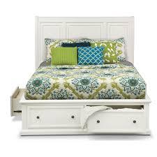 White Platform Bed Frame Storage Bed Frame With White Storage Bed With White