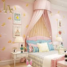 Girls Pink Bedroom Wallpaper by Blue Yellow Pink Cartoon Animal Kids Bedroom Wallpaper For Walls