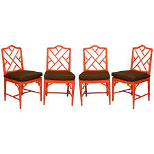 red chippendale dining chairs at 1stdibs