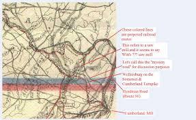 Pa Road Map 1835 Southampton Township Map
