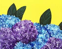 Purple Hydrangea Hydrangea Art Etsy