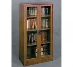Bookcase With Doors Cherry Bookcase With Glass Doors U2039 Decor