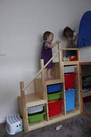 Bunk Bed With Stair Ladder Into Steps Ikea Hackers