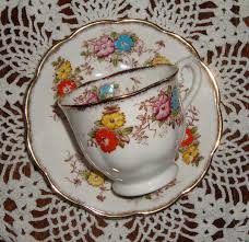 royal albert crown china england hand decorated vintage tea