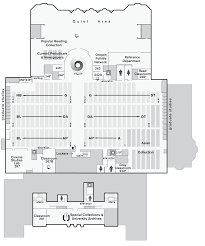 Floor Plan Of A Library by Map Uo Knight Library Second Floor Uo Libraries