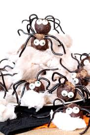 creepy chocolate spiders in an edible web make an adorable