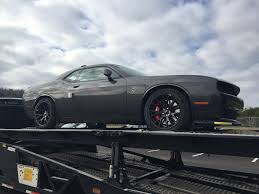 Dodge Challenger Grey - challenger hellcat owner gets 2016my replacement car after his