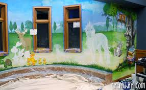 public library mural in deshler nebraska by artist cindy chinn library mural unicorn