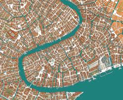 Map Venice Italy by Delia Potamianou