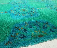 floors u0026 rugs blue u0026 green mod shag rugs for futuristic living