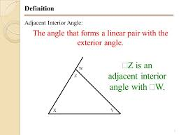 What Is Interior And Exterior Angles 1 Geometry Section 4 1b Angles Outside The Triangle Pg 247 Be