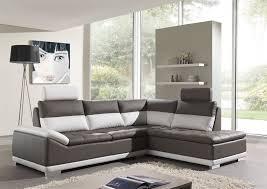 canapé gris taupe canapé d angle cuir gris et blanc intérieur déco