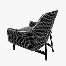 3d ralph pucci jens risom chair cgtrader
