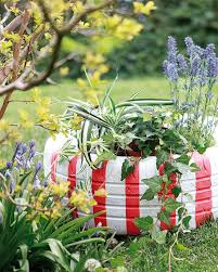 diy garden decorations colourful ideas with flowers and butterflies